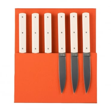 9.47 Knife - White/Beige (Set 6)