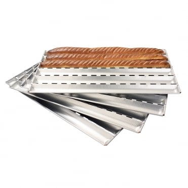 Alumunium Baguette Bread Sheet -5 Tray
