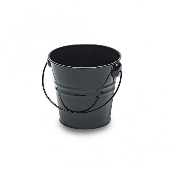 Black Metal Bucket 11cm