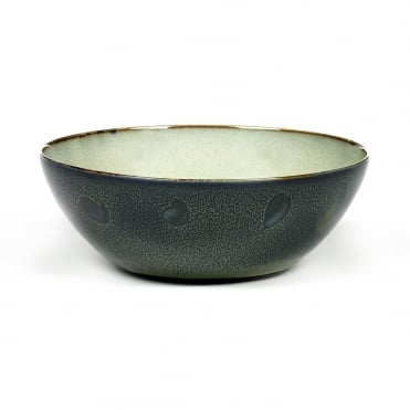 Bowl L 18.4x7.1cm(h) Mist Grey/Dark Blue