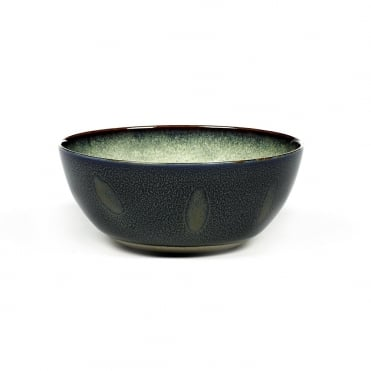 Bowl M 13.7x6cm(h) Misty Grey/ Dark Blue