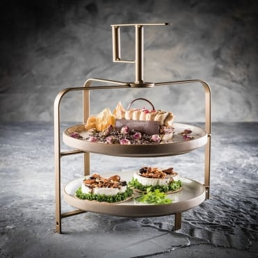 Bronze Effect 2 Tier Cake Stand & Afternoon Tea Stands | Afternoon Tea Sets | Goodfellows
