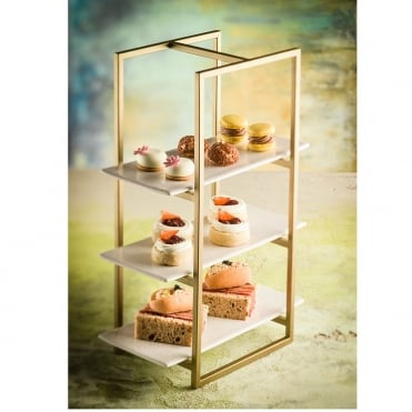 Bronze Effect Cake Stand 22x17x46cm(h)