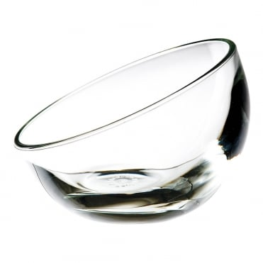 Bubble Stroke Bowl 12 x 9cm(h) - Clear