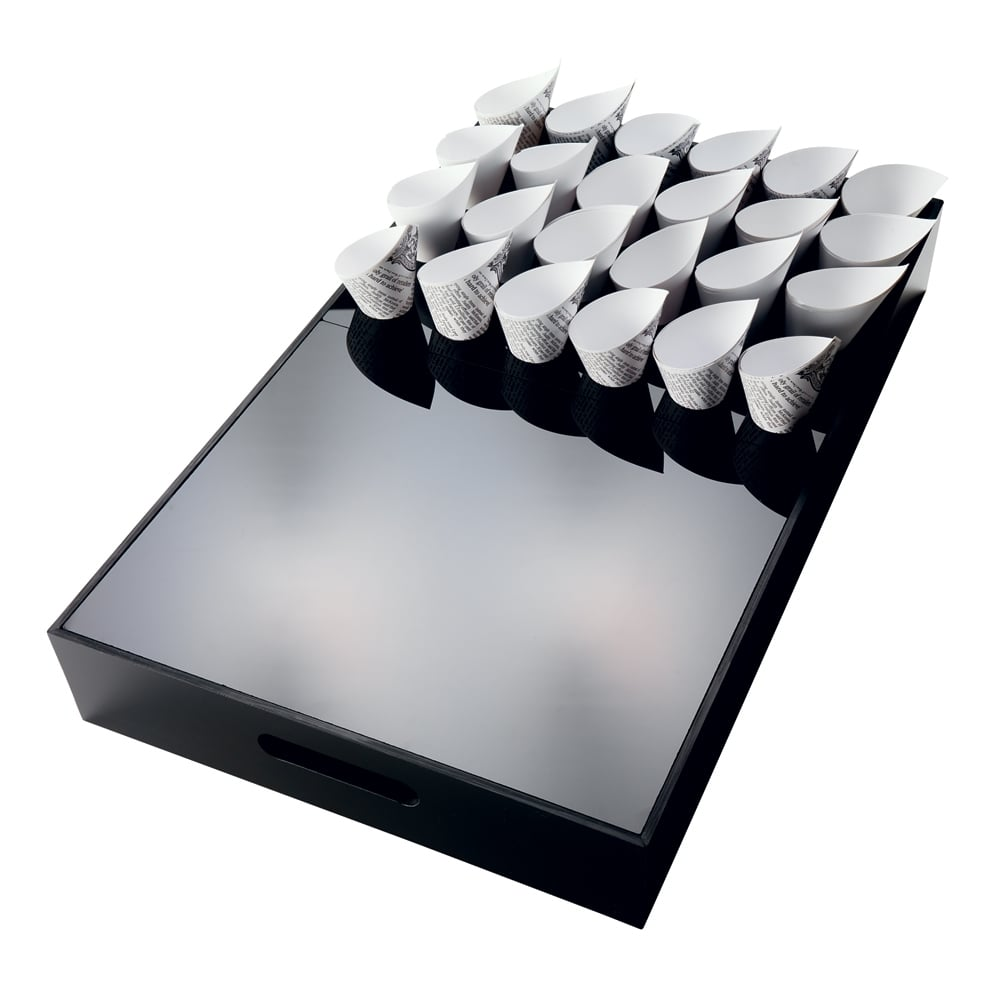 Canape box black 53 x 32 5 x wood from goodfellows uk for Canape display stands