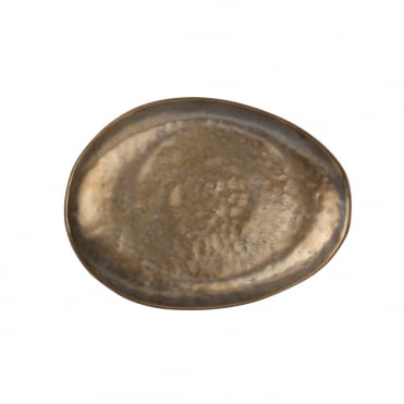 Claro Gold Oval Plate 27x20cm