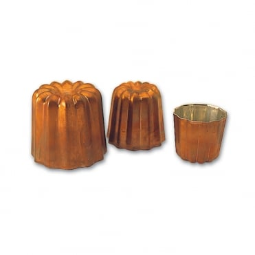 Copper Cannele Mould 45x45mm