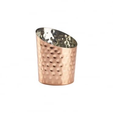 Copper Plated Hammered Angled Cone