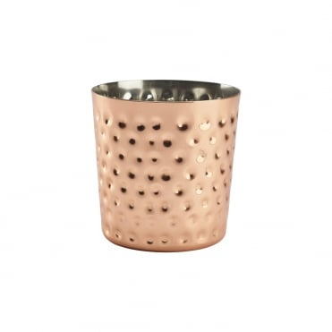 Copper Plated Hammered Cup 8.5x8.5cm
