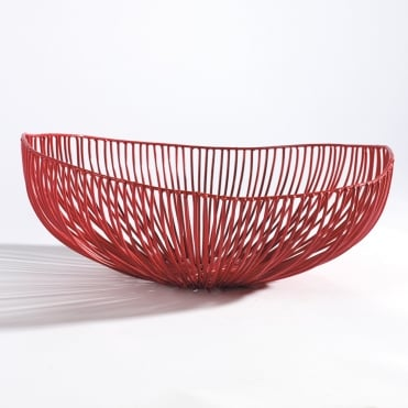 Deep Plate 'Meo' 37x33x14cm Red