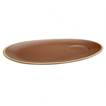 Earth Oval Plate 36cm
