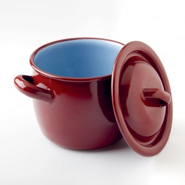 Enamel Round Cooking Pot 12x10cm(h)