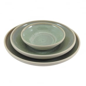 French Bowl 16x4.5cm - Green  sc 1 th 225 & STUDIO MATTES GREEN Plate 26cm - Green - Stoneware from Goodfellows UK