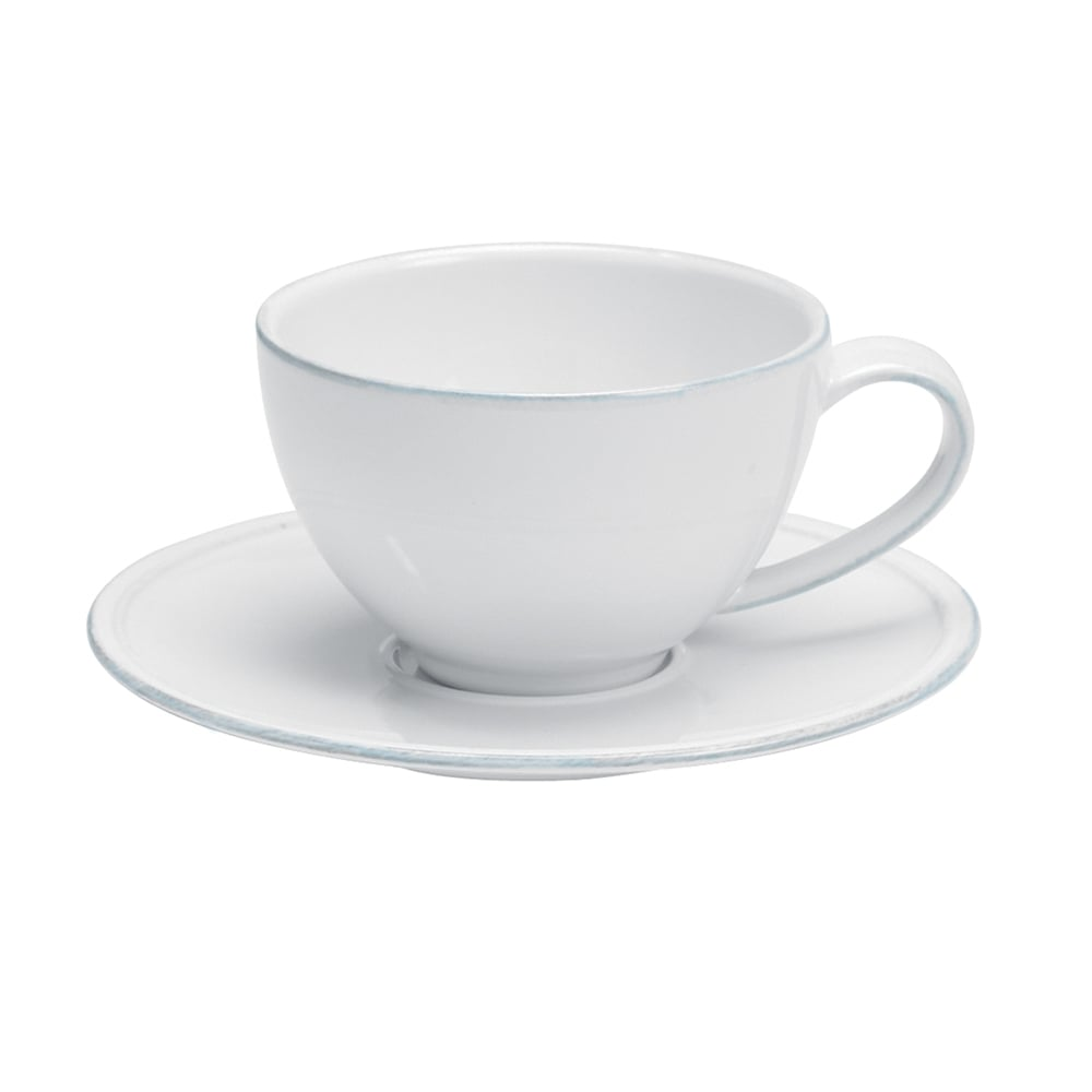 Costa Nova Friso Whi Friso Tea Cup Saucer 26cl White Tableware From Goodfellow Goodfellow Uk