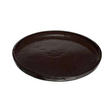 Glass Appetiser Plate 31cm -Dark Brown