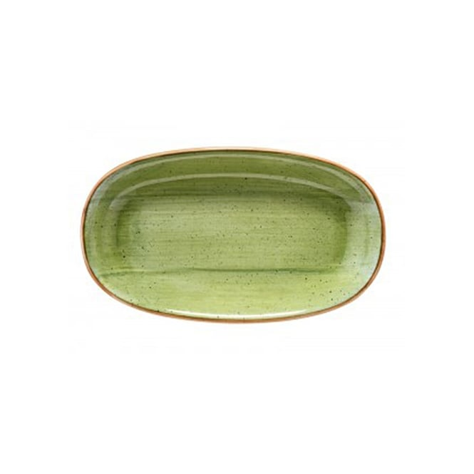 BONNA AURA THERAPY Gourmet 15cm Oval Plate-Therapy Green