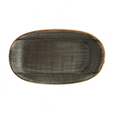 Gourmet 24cm Oval Plate - Space Grey