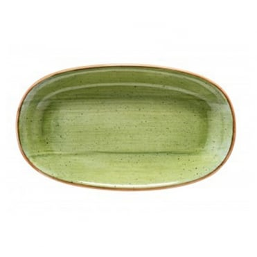 Gourmet 24cm Oval Plate-Therapy Green