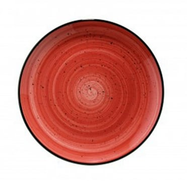 Gourmet 25cm Flat Plate - Passion Red