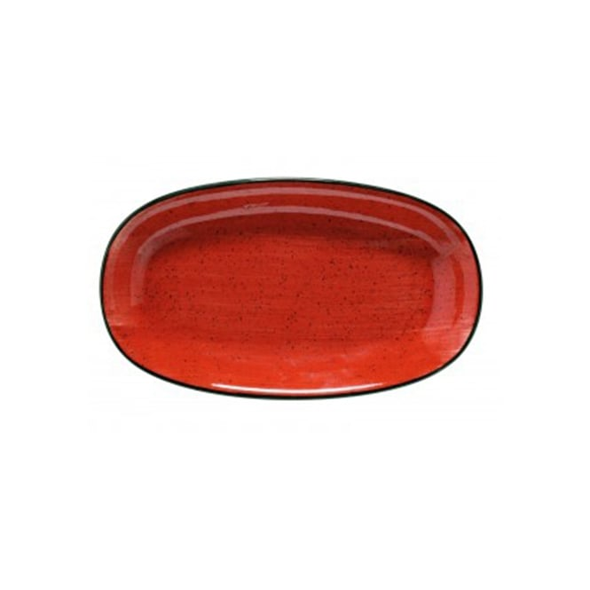 BONNA AURA PASSION Gourmet 34cm Oval Plate - Passion Red