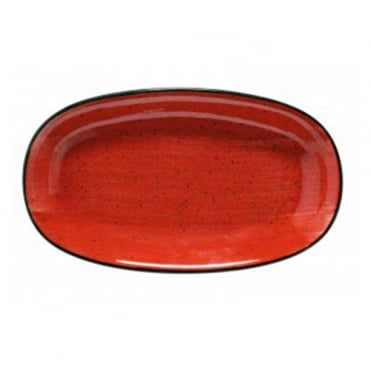 Gourmet 34cm Oval Plate - Passion Red