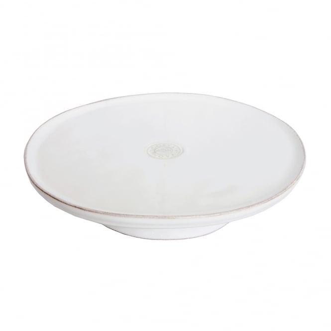 LISA White Footed Plate 26cm