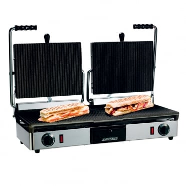 Maestrowave Double Contact Grill Ribbed