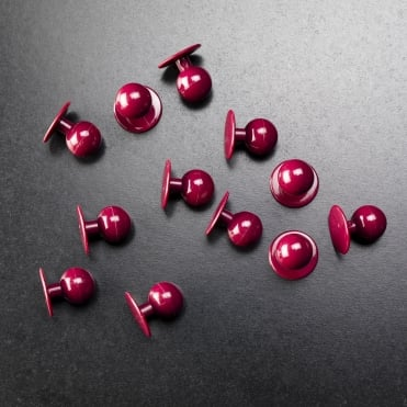 Maroon Stud Buttons