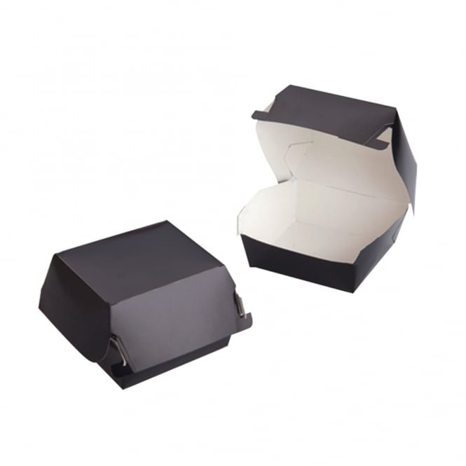 Mini Burger Box - Black (pack 100)