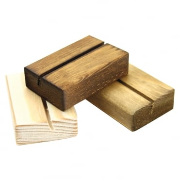 Mini Menu Holder Anitique Pine 6x4.5cm