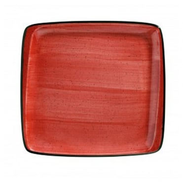 Moove 32x30cm Square Plate - Passion Red