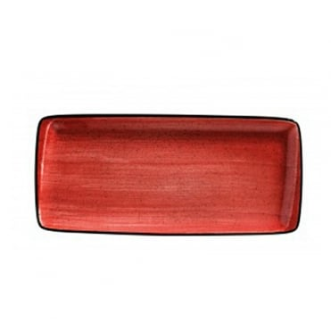Moove 34x16cm Rectangular Plate - Red