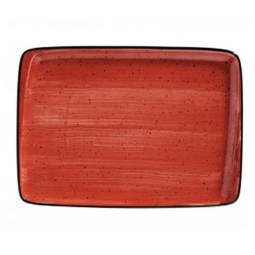 Moove 36x25cm Rectangular Plate - Red