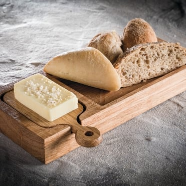 Oak Bread & Butter Board w/Paddle