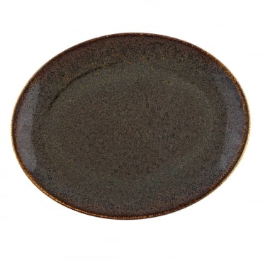 Ore Moove 31x24cm Oval Plate-Brown