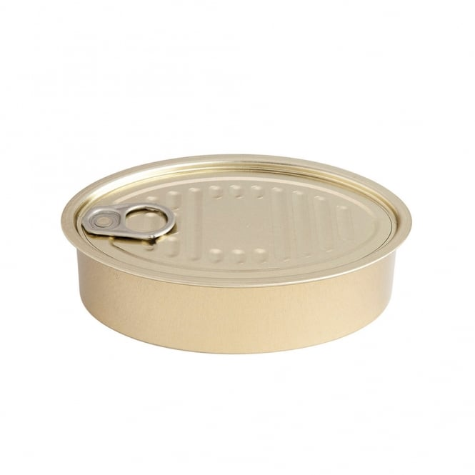 Oval Tin Can with Lid 13cm (pack 50)