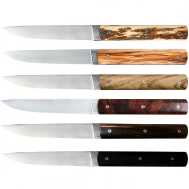 888 Knife - Mixed Wood (Set 6)