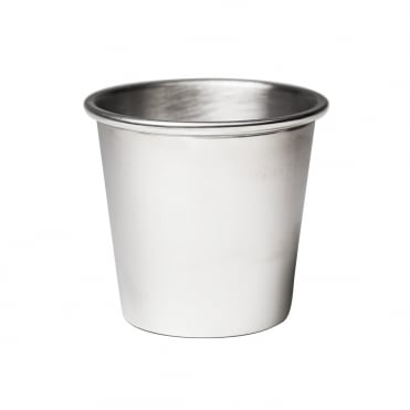 Pewter Rolled Edge Bread Pot 10x10cm(h)