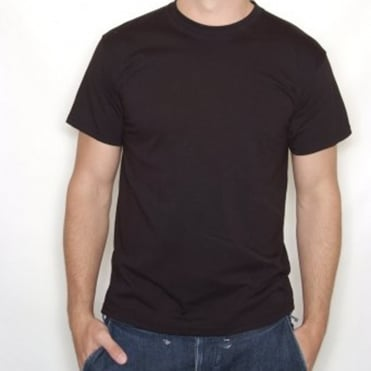 Plain Black T-Shirt 100% Cotton - Large