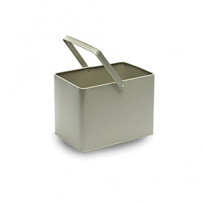 Rectangle French Grey Metal Bucket