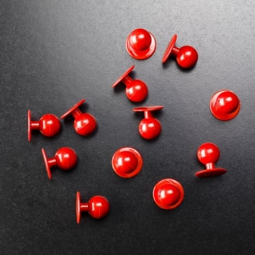 Red Stud Buttons