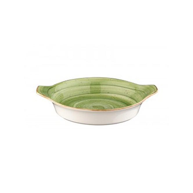BONNA AURA THERAPY Round Eared Dish 20cm - Therapy Green