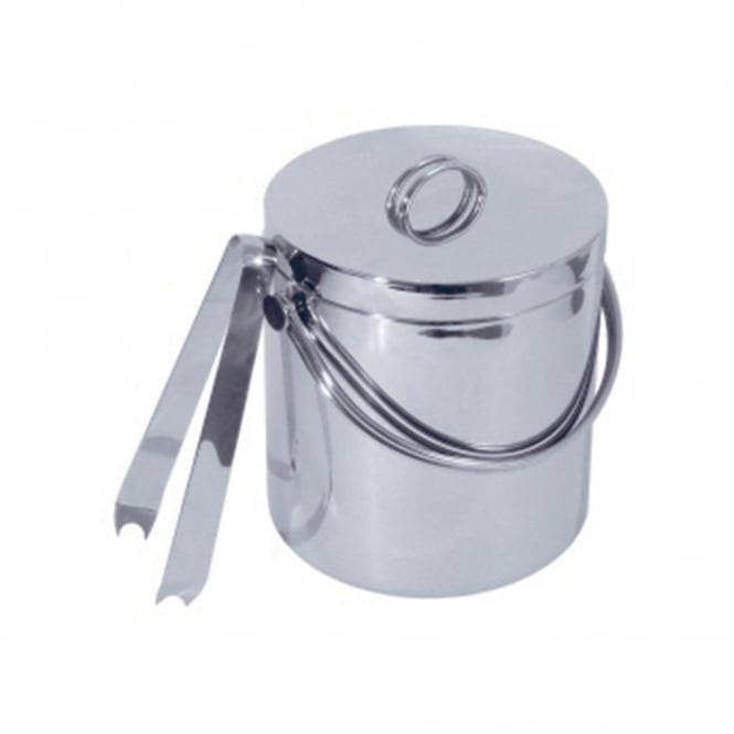 S/S Double Walled Ice Bucket with Tongs