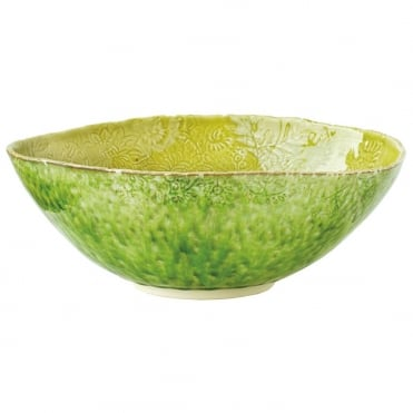 Serving Bowl 35cm- Seaweed/Olive