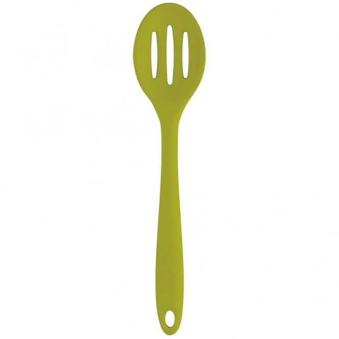 Silicone Slotted Spoon 27cm-Green