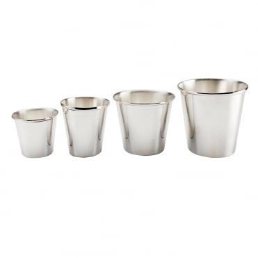 Silver Rolled Edge Pot 10x16cm(h)