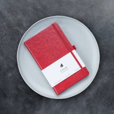 Stone Notebook - Red