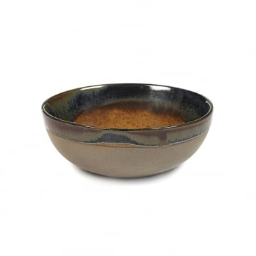 Surface Bowl Gris/ Rusty Brown 13x5cm(h)