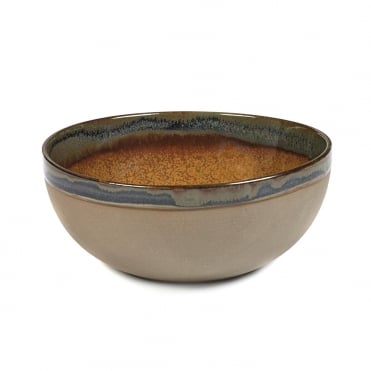 Surface Bowl Rusty Brown 19x8cm(h)