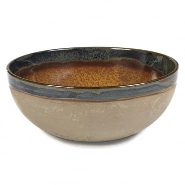 Surface Bowl Rusty Brown 23x9.5cm(h)